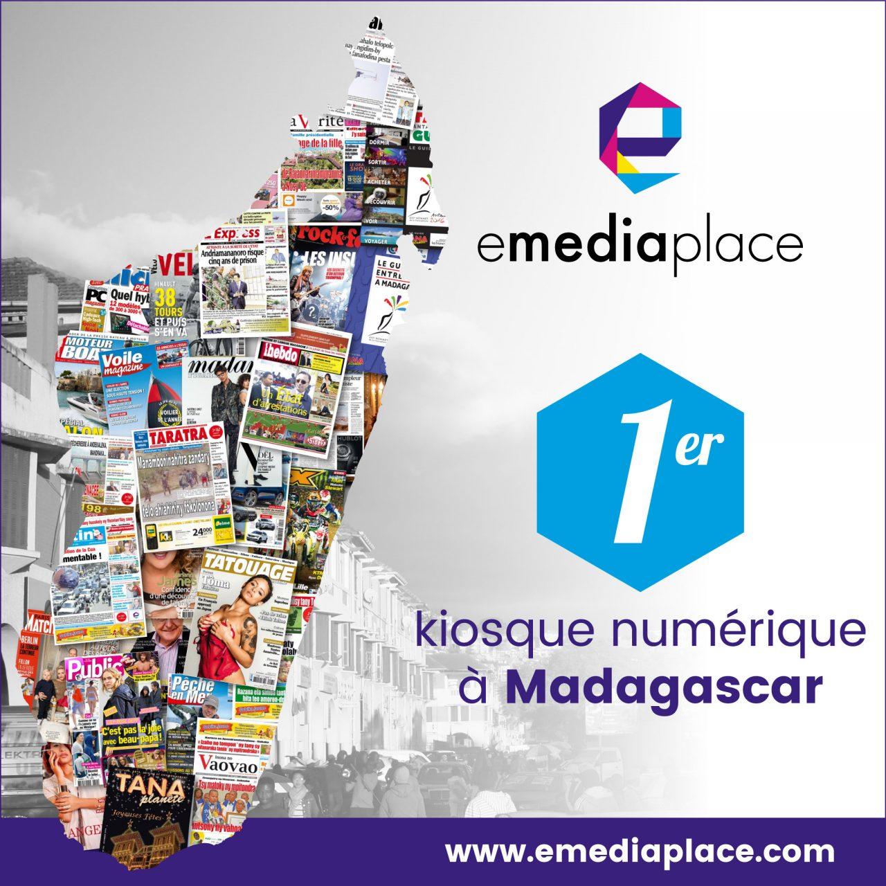 emediaplace premier kiosque numérique madagascar