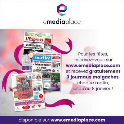 le kiosque numérique emediaplace offre trois journaux malgaches
